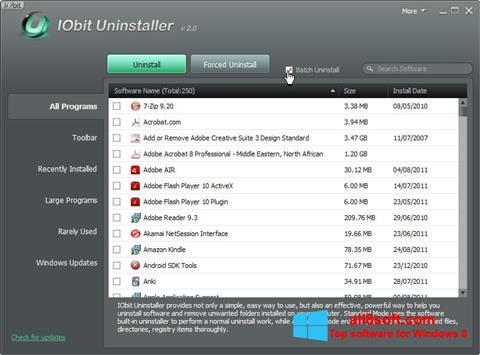 Ảnh chụp màn hình IObit Uninstaller cho Windows 8