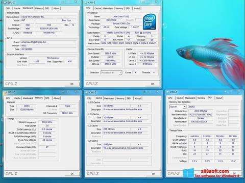 Ảnh chụp màn hình CPU-Z cho Windows 8