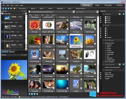 Ảnh chụp màn hình ACDSee cho Windows 8