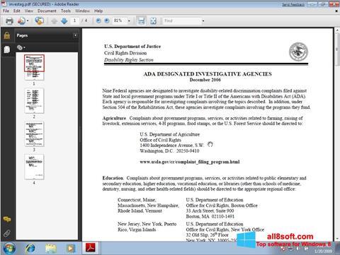 Ảnh chụp màn hình Adobe Reader cho Windows 8