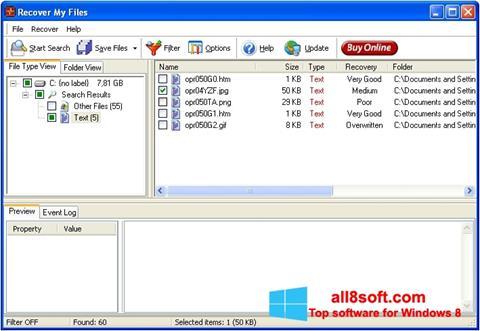 Ảnh chụp màn hình Recover My Files cho Windows 8