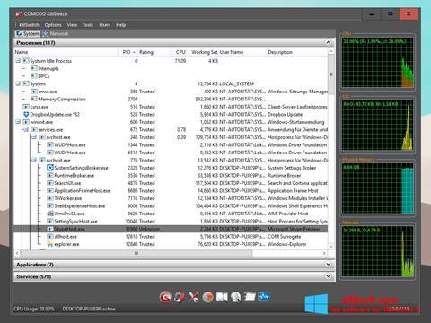 Ảnh chụp màn hình Comodo Cleaning Essentials cho Windows 8