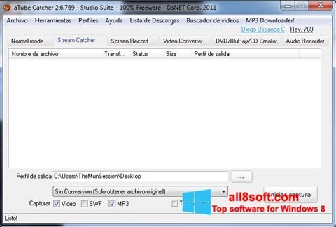 Ảnh chụp màn hình aTube Catcher cho Windows 8