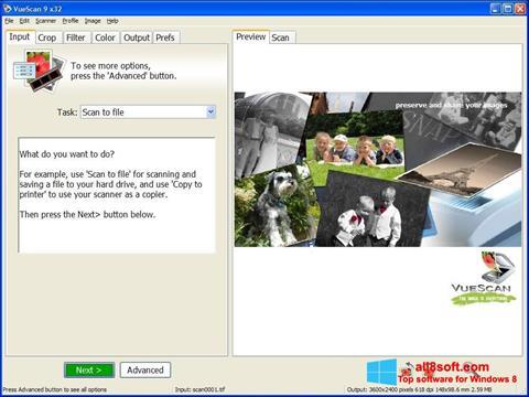 Ảnh chụp màn hình VueScan cho Windows 8