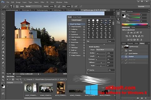 Ảnh chụp màn hình Adobe Photoshop cho Windows 8