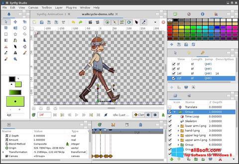 Ảnh chụp màn hình Synfig Studio cho Windows 8