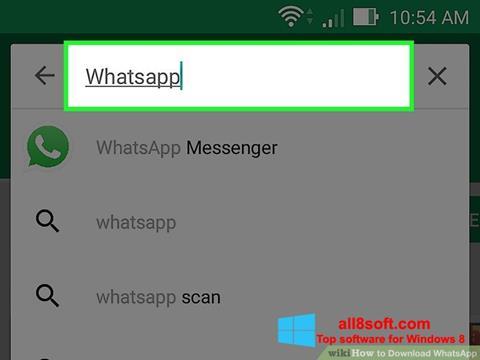 Ảnh chụp màn hình WhatsApp cho Windows 8