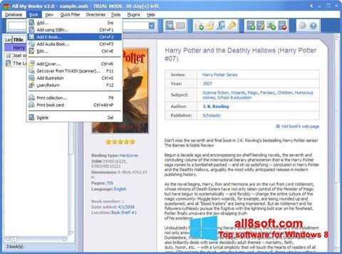 Ảnh chụp màn hình All My Books cho Windows 8