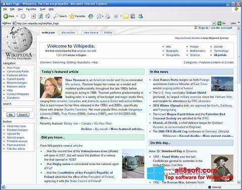 Ảnh chụp màn hình Internet Explorer cho Windows 8