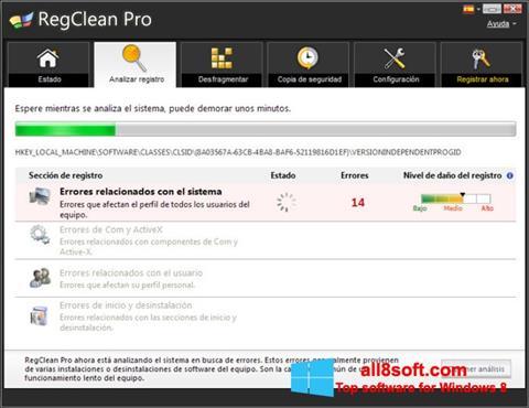Ảnh chụp màn hình RegClean Pro cho Windows 8