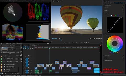 Ảnh chụp màn hình Adobe Premiere Pro cho Windows 8