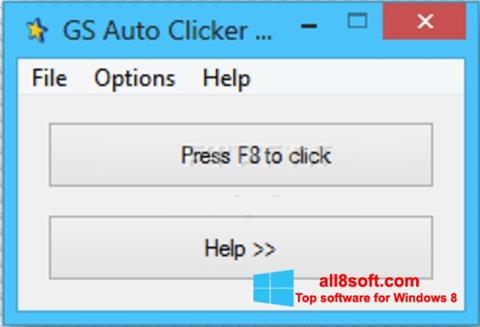 Ảnh chụp màn hình GS Auto Clicker cho Windows 8