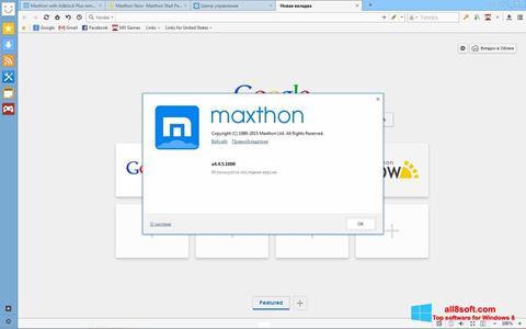 Ảnh chụp màn hình Maxthon cho Windows 8