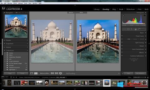 Ảnh chụp màn hình Adobe Photoshop Lightroom cho Windows 8
