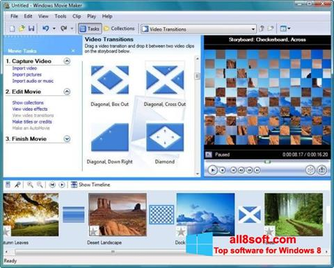 Ảnh chụp màn hình Windows Movie Maker cho Windows 8