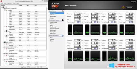 Ảnh chụp màn hình AMD Overdrive cho Windows 8