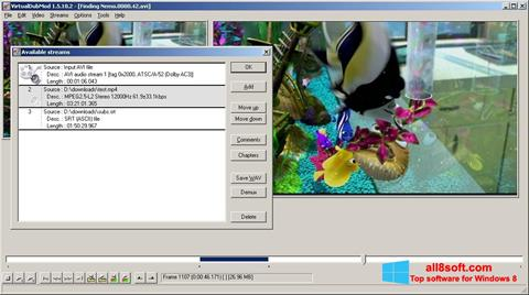Ảnh chụp màn hình VirtualDubMod cho Windows 8