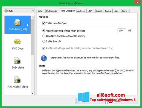 Ảnh chụp màn hình Nero Image Drive cho Windows 8