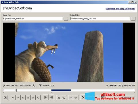 Ảnh chụp màn hình Free Video Dub cho Windows 8