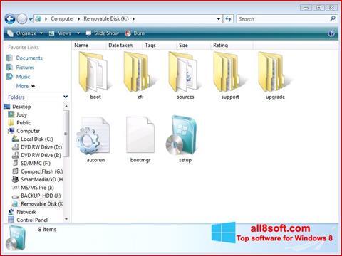 Ảnh chụp màn hình Windows 7 USB DVD Download Tool cho Windows 8