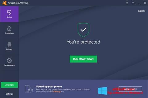 Ảnh chụp màn hình Avast Free Antivirus cho Windows 8