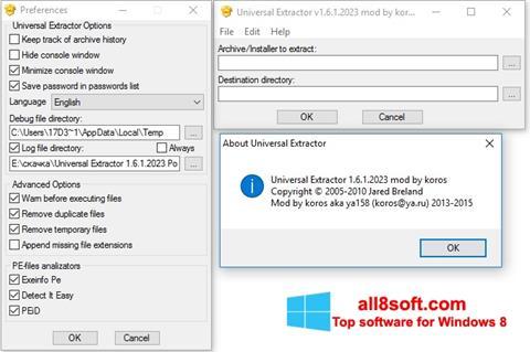 Ảnh chụp màn hình Universal Extractor cho Windows 8