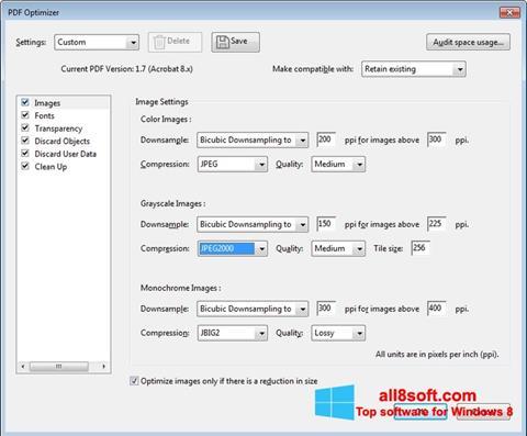 Ảnh chụp màn hình Adobe Acrobat Pro DC cho Windows 8