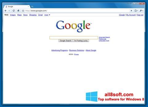 Ảnh chụp màn hình Google Chrome Beta cho Windows 8