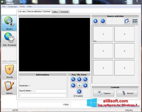 Ảnh chụp màn hình webcamXP cho Windows 8