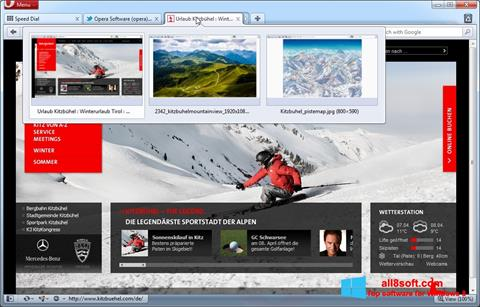 Ảnh chụp màn hình Opera cho Windows 8