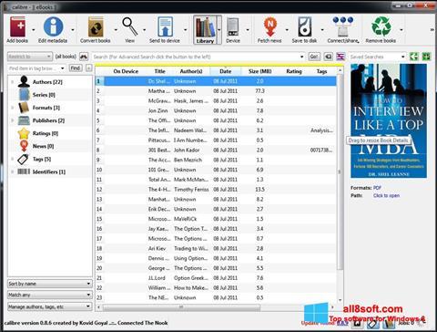 Ảnh chụp màn hình Calibre cho Windows 8