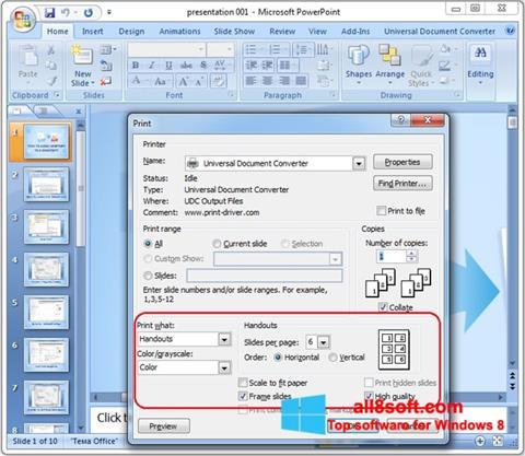 Ảnh chụp màn hình Microsoft PowerPoint cho Windows 8