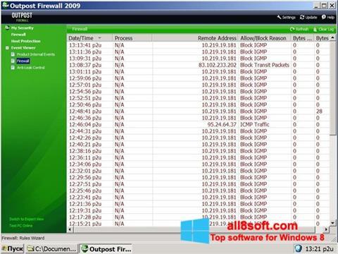 Ảnh chụp màn hình Outpost Firewall Free cho Windows 8
