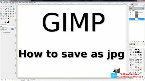 Ảnh chụp màn hình GIMP cho Windows 8