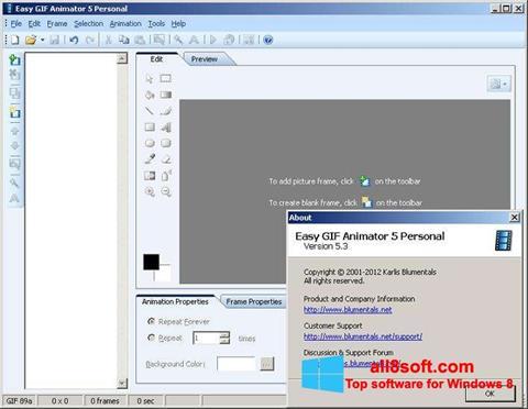 Ảnh chụp màn hình Easy GIF Animator cho Windows 8