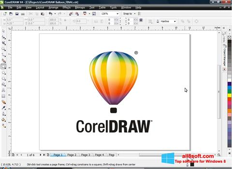 Ảnh chụp màn hình CorelDRAW cho Windows 8