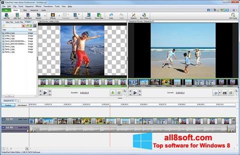 Ảnh chụp màn hình VideoPad Video Editor cho Windows 8