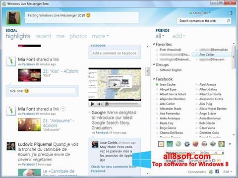 Ảnh chụp màn hình Windows Live Messenger cho Windows 8