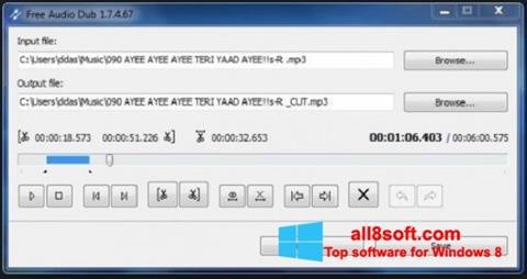 Ảnh chụp màn hình Free Audio Dub cho Windows 8