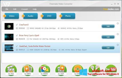 Ảnh chụp màn hình Freemake Video Converter cho Windows 8