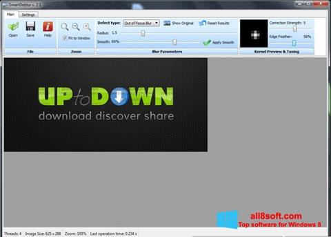 Ảnh chụp màn hình SmartDeblur cho Windows 8