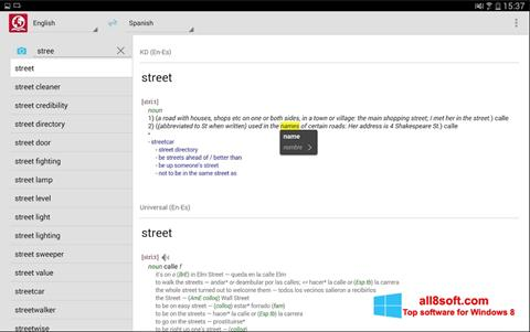 Ảnh chụp màn hình ABBYY Lingvo cho Windows 8
