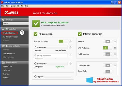 Ảnh chụp màn hình Avira cho Windows 8