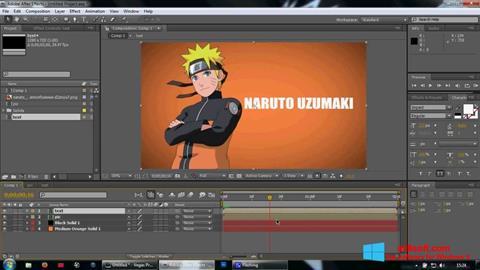 Ảnh chụp màn hình Adobe After Effects cho Windows 8