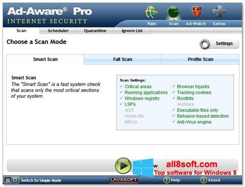 Ảnh chụp màn hình Ad-Aware cho Windows 8