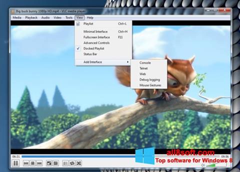 Ảnh chụp màn hình VLC Media Player cho Windows 8