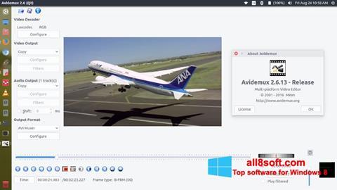 Ảnh chụp màn hình Avidemux cho Windows 8